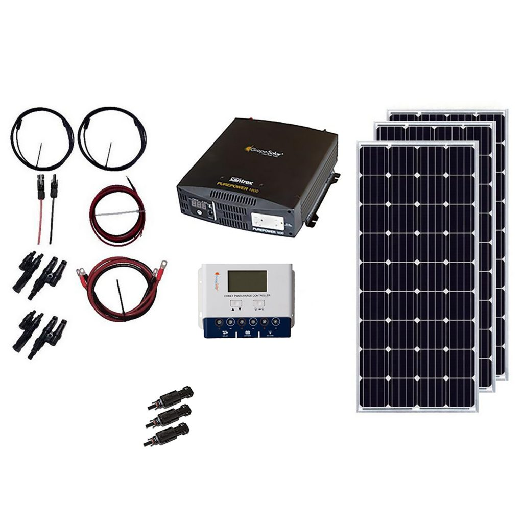 Grape Solar GS-540-KIT 540W Off-Grid Solar Kit with Comet40 Charge Controller